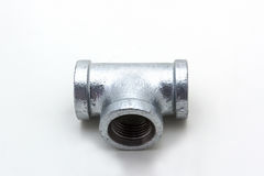 Three way plumbing pipes. Stock Image