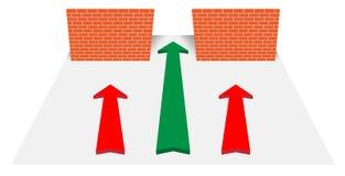 Three way Stock Image