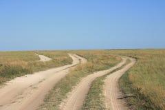 Three ways landscape Royalty Free Stock Image