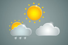 Three weather icons Stock Images