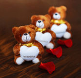 Three Wedding Bears Royalty Free Stock Images