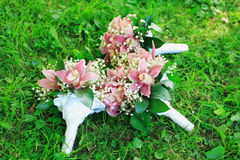 Three wedding bouquets Royalty Free Stock Photography