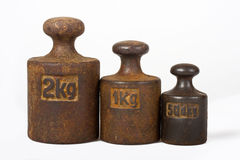 Three weights Stock Photography