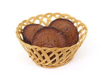 Three Well Done Chocolate Muffins Stock Photography