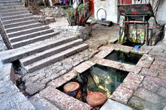Three Wells in Old Town of Lijiang Royalty Free Stock Images