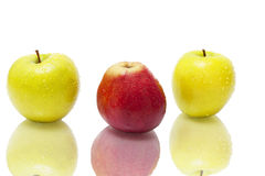 Free Three Wet Apple Stock Photo - 18902350
