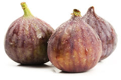 Three wet figs Stock Image