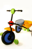 Three wheel bike. Baby bike on white background Royalty Free Stock Photo