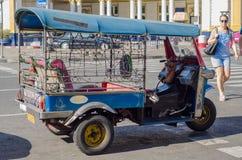 Three wheel bikes stop on road Royalty Free Stock Photo