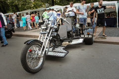 Three-wheeled bike. Royalty Free Stock Image