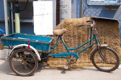 Three wheeled bike for sale in an alley in Beijing. Royalty Free Stock Image