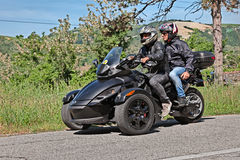 Three-wheeled BRP kunnen-Am Spyder stock fotografie