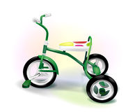 Three-wheeled kid's bike Royalty Free Stock Images