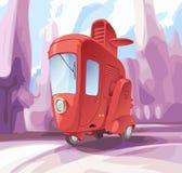 Three-wheeled liten stadsbil Fotografering för Bildbyråer
