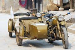 Three-wheeled motorcycle. World War II Japanese military's use of three-wheeled motorcycle Stock Photos