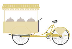 Ice cream bike. Royalty Free Stock Photography