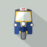 Three Wheelers Taxi Front View. Three Wheelers Taxi Front View Vector Illustration Stock Images