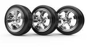 Three wheels Royalty Free Stock Photography