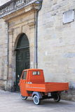 Three wheels car in ancient Dijon, France Stock Images