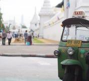 three-wheels open air, fun and well known BANGKOK and THAI urban TUK-TUK taxi Royalty Free Stock Images