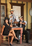 Three Whiskey Gangster Bootleggers Stock Images