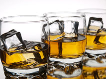 Three whiskeys Royalty Free Stock Image
