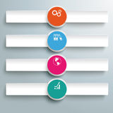 Three White Banners Infographic 4 Options PiAd Stock Image