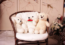 Three white bear Stock Photos
