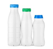 Three white bottle Royalty Free Stock Image