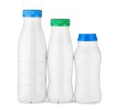 Three white bottle Royalty Free Stock Image