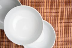 Three White Bowls Stock Photography