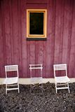 Three white chairs Royalty Free Stock Image