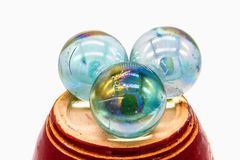 Three White crystal ball Royalty Free Stock Photo
