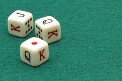 Three white dice Royalty Free Stock Photography