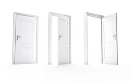Three white doors Royalty Free Stock Photo