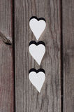 Three white hearts Royalty Free Stock Photos
