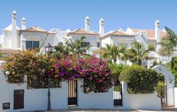 Three white houses Royalty Free Stock Images