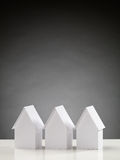 Three White Houses Stock Image