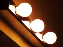 Three white lamps Stock Photography
