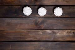 Three white marshmallows Royalty Free Stock Photography