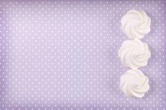 Three white meringue shells Royalty Free Stock Photos
