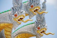 Three white  Nagas Stock Image