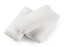 Three white paw chewing gum Stock Image