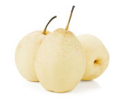 Three white pears Royalty Free Stock Images