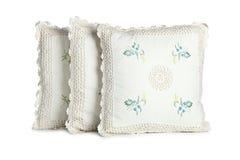 Three white pillows Stock Images