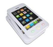 Three white smartphone Stock Image