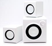 Three white speaker Royalty Free Stock Image