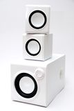 Three white speaker Royalty Free Stock Image