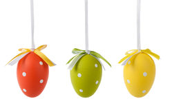 Spotted easter eggs Royalty Free Stock Images
