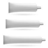 Three white tube Royalty Free Stock Images